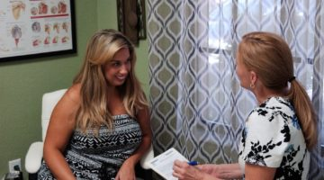 Lorrie and Kim client consultation